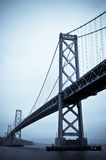 The Bay Bridge, San Francisco. Finished in a Blue Duotone Stock Images