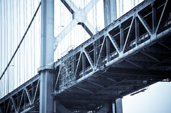 The Bay Bridge, San Francisco. Finished in a Blue Duotone Royalty Free Stock Images