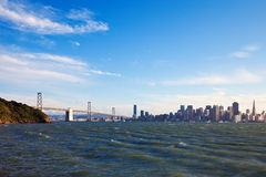 Bay Bridge and San Francisco Royalty Free Stock Photography