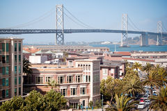 Bay Bridge, San Francisco. The Bay Bridge as seen from AT&T Park in San Francisco. It spans the San Francisco Bay between San Francisco and Oakland Stock Photography