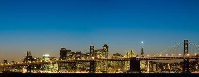 Bay Bridge and San Francisco stock photography