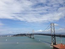 Bay Bridge. In San Francisco, CA royalty free stock photo