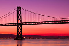 Bay Bridge, San Francisco, California. Stock Photos