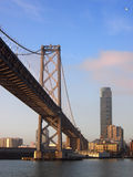 Bay Bridge and San Francisco Cityscape Royalty Free Stock Image
