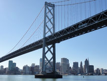Bay Bridge and San Francisco Cityscape Royalty Free Stock Images