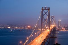 Bay Bridge, San Francisco at d Stock Images