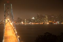 Bay Bridge in San Francisco royalty free stock photo
