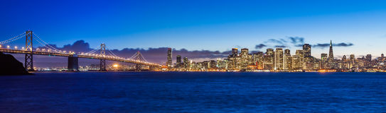 Bay Bridge and San Francisco Royalty Free Stock Image