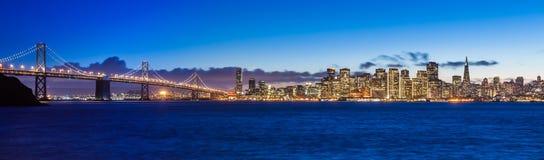 Bay Bridge and San Francisco royalty free stock image