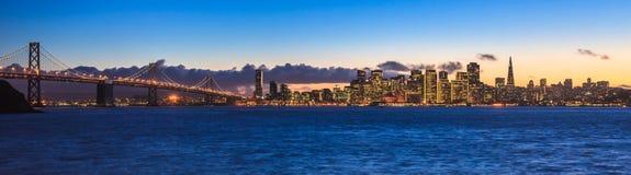Bay Bridge and San Francisco royalty free stock photos