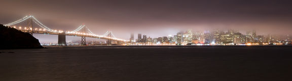 Bay Bridge and San Francisco in the Fog Stock Photo