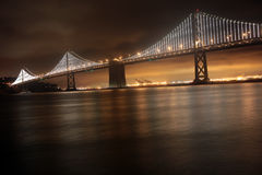 Bay Bridge, San Francisco and Oakland Stock Photography