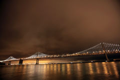 Bay Bridge, San Francisco and Oakland Stock Photos