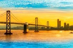 Bay Bridge, San Francisco, California, USA. stock photography