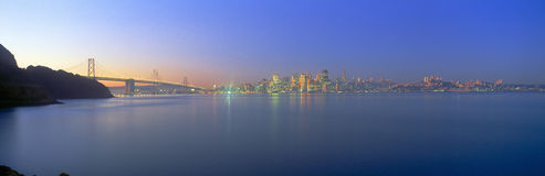 Bay Bridge & San Francisco from Treasure Island, California Royalty Free Stock Photography