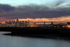Bay Bridge & SF at Twilight Stock Photography
