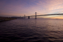 Bay Bridge Sunrise Stock Photos