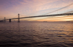 Bay Bridge Sunrise Royalty Free Stock Photo