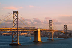 Bay Bridge at Sunset Stock Images