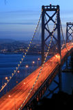 bay bridge sunset Στοκ Εικόνες