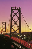 Bay Bridge at sunset Royalty Free Stock Photography