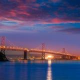 Bay Bridge at sunset in San Francisco California Stock Photography