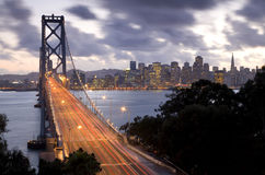 Bay Bridge to San Francisco Stock Photography