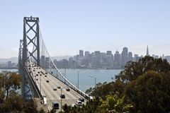 Bay Bridge Towards San Francisco Royalty Free Stock Photography