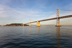 Bay Bridge and Treasure Island Stock Image