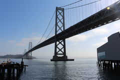 Bay Bridge. View of the Bay Bridge from the Embarcadero in San Francisco, CA Royalty Free Stock Photos
