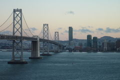 Bay Bridge. View of San Francisco from Treasure Island Royalty Free Stock Photo