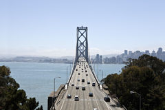 Bay Bridge Wide Shot Royalty Free Stock Photography