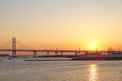Bay Bridge,Yokohama Japan Stock Photo