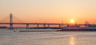 Bay bridge Yokohama royalty free stock photography