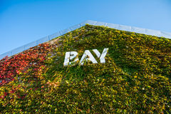BAY Building cover by  plant. In Hokkaido Stock Photography