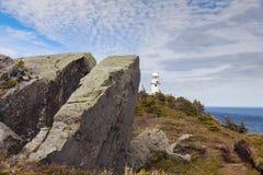 Bay Bulls Lighthouse, Newfoundland. Newfoundland and Labrador, Canada stock images