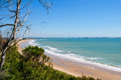 Bay of Cadiz.Spain. Image of the Bay of Cadiz from Puerto de Santa Maria Stock Images