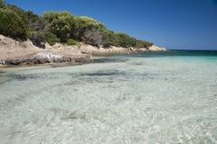 The Bay of Cala Granu in Sardinia Royalty Free Stock Photos