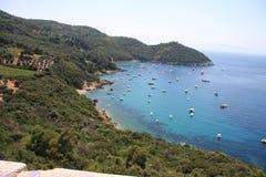 The bay of Cala Piccola in Orbetello Stock Photos