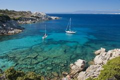 The Bay of Cala Spinosa in Sardinia Stock Image