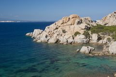 The Bay of Cala Spinosa in Sardinia Royalty Free Stock Photo