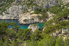 The bay Calanque Sugiton in South France. The bay Calanque Sugiton near Marseille in South France Royalty Free Stock Image