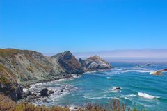 Big Sur in California with view of Bay royalty free stock images