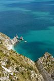 The bay called The Two Sister, Mount Conero Royalty Free Stock Photo