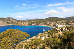 Bay of Camp de Mar in Majorca Royalty Free Stock Photos