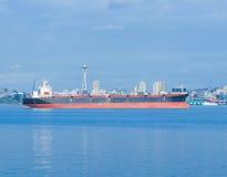 bay cargo elliott seattle ship 免版税库存照片