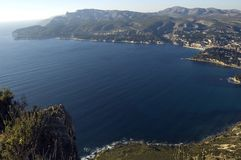 Bay of Cassis, French riviera Stock Photos