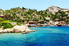The bay and castle in Kekova Stock Photos