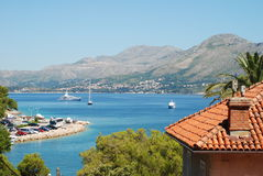The bay at Cavtat, Croatia Royalty Free Stock Photography