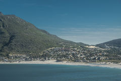 Bay of a city by the sea in cape town Royalty Free Stock Photos